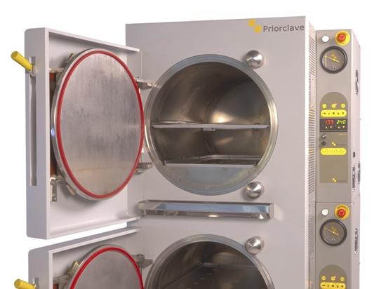 Las autoclaves apilables de Priorclave dan a laboratorios mayor flexibilidad de esterilización