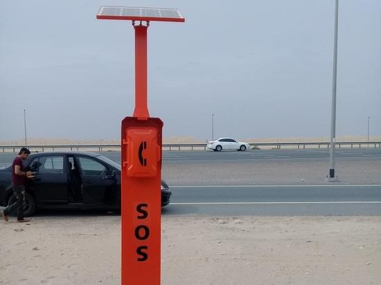 El nuevo teléfono del borde de la carretera de la emergencia del diseño para el proyecto de la carretera de Dubai