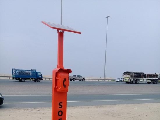 Nuevo teléfono del borde de la carretera de la emergencia del diseño para el proyecto de la carretera de Dubai