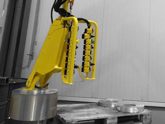 Manipulador Partner PES con útil para hojas de aluminio en rollos