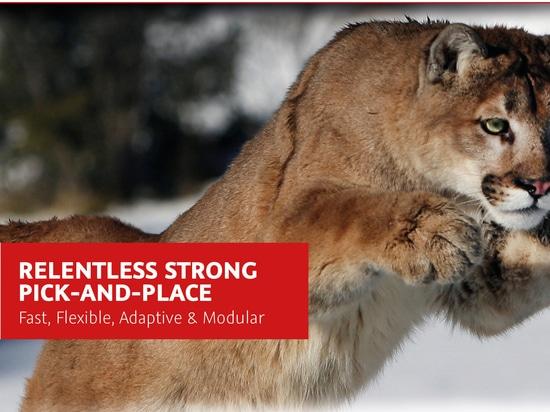 Puma/tarántula - innovación del Selección-y-lugar/del dispensador de Essemtec en Productronica 2017