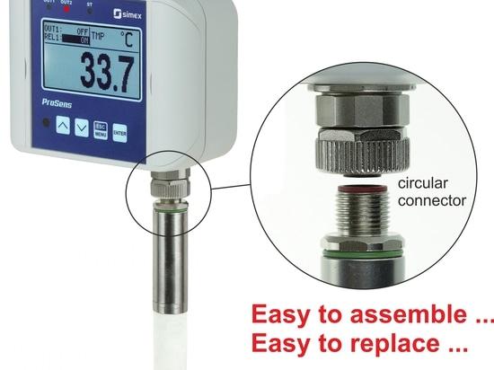 Dispositivo de ProSens con la punta de prueba separable de la medida
