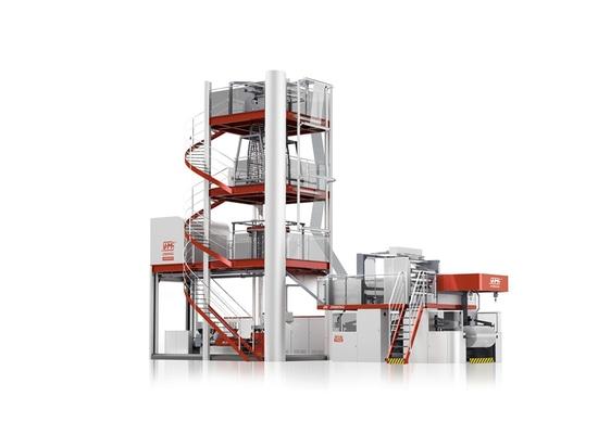 (FFS) máquina soplada resistente de tres capas de la película para el cliente en China