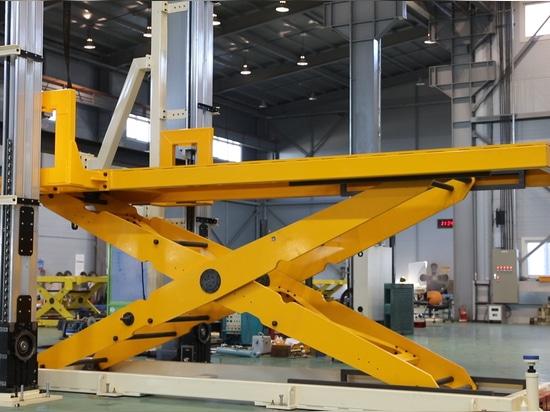 Tabla de elevación con los sistemas laterales de la elevación: posición intermedia