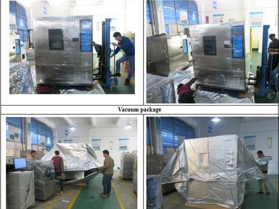 Detalle del embalaje de la máquina de la prueba de la humedad de la temperatura