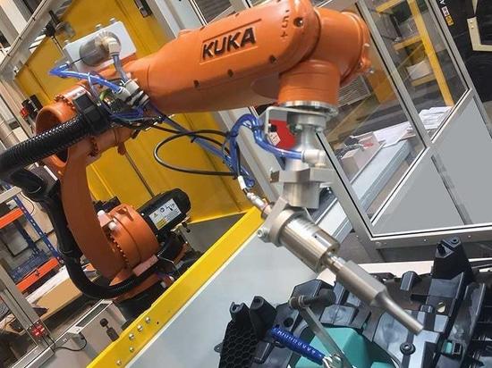 Ultrasónicos montado robot