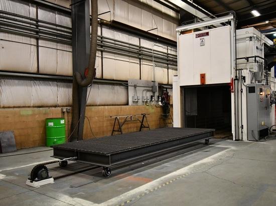 Oven Heat Treats Aluminum Parts sin llamar
