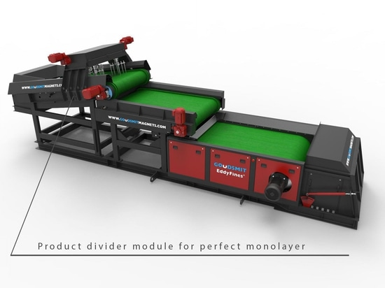 La nueva alimentación del transportador impulsa la producción de Eddy Current Separators en inútil y las plantas de reciclaje