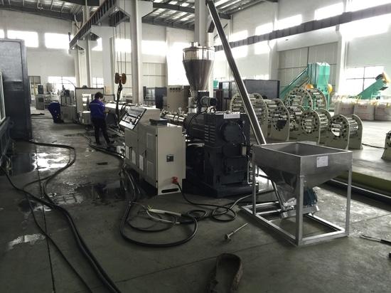 Proceso de la producción del tubo del PVC