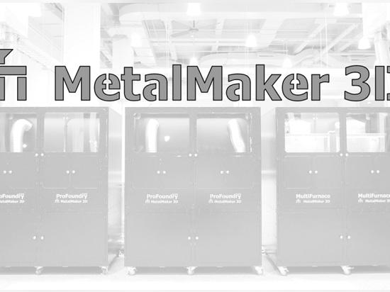 MetalMaker 3D que ponía en marcha el servicio rápido de la creación de un prototipo para el metal 3D imprimió piezas a pedido