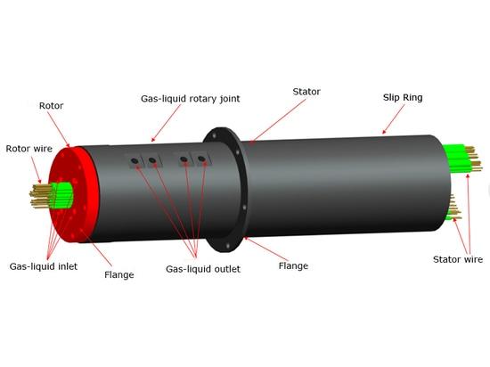 Junta rotatoria híbrida hidráulica neumática eléctrica