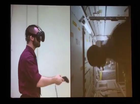 NASA en el entrenamiento de VR para la estación espacial internacional y la realidad de Hyrbid