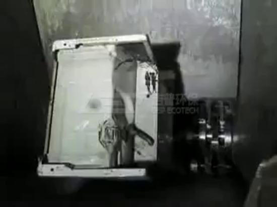 Trituradora de residuos electrónicos para el reciclaje de la nevera de residuos