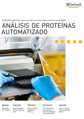 DUMATHERM® - Análisis de proteínas automatizado