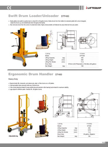 i-Lift/Hu-Lift Drum Handler DTF450