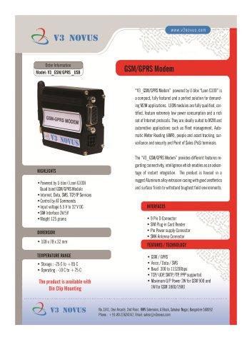 V3_GSM/GPRS MODEM_RS232