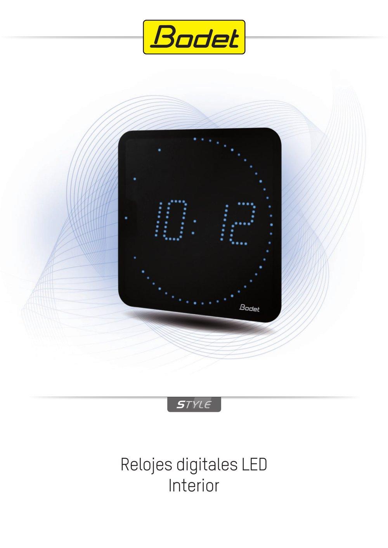 Style - Relojes digitales LED - Bodet - Catálogo PDF  487d002f4bc3