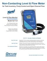 Non-Contacting Level & Flow Meter - SLT 5.0