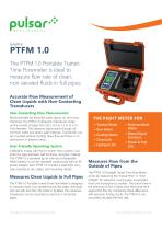 PTFM 1.0 Portable Transit Time Flow Meter