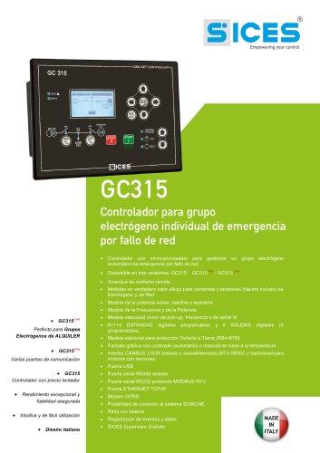 GC315 - Controlador para grupo electrógeno individual de emergencia por fallo de red