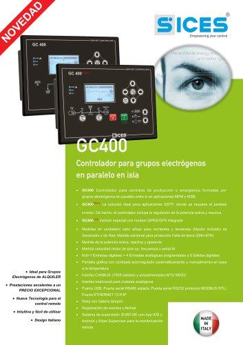 GC400 - Controlador para grupos electrógenos en paralelo en isla