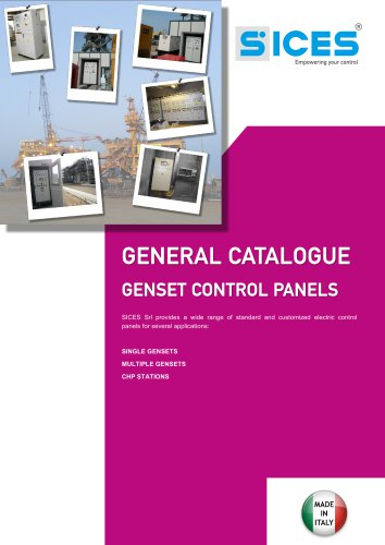 General catalogue_SICES control panels
