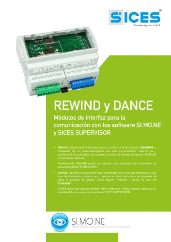 REWIND&DANCE - Interfaces de comunicacion con los software SI.MO.NE y SICES SUPERVISOR