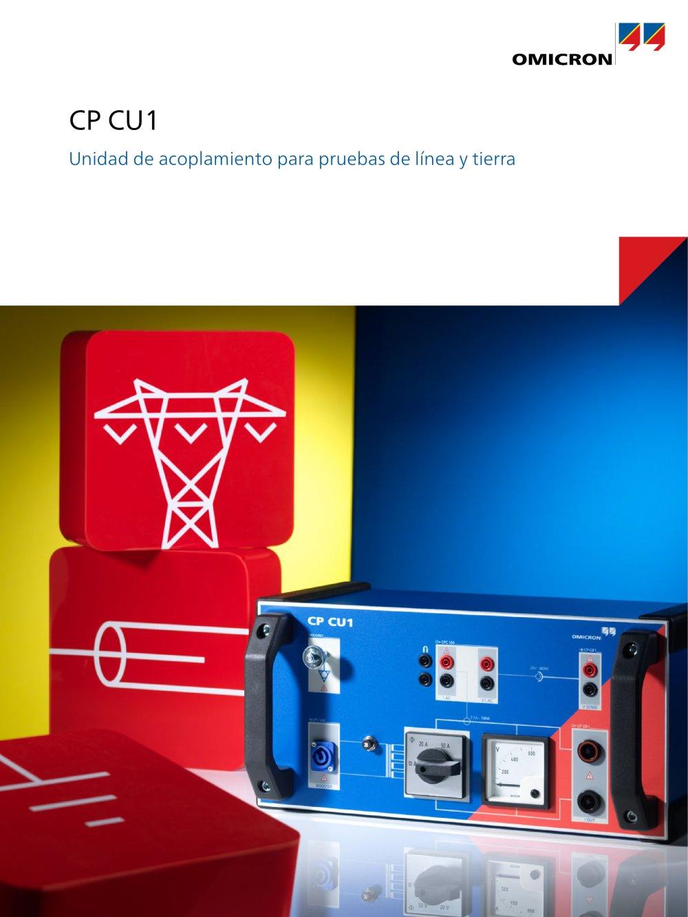 CP CU1 - Unidad de acoplamiento para pruebas de línea y tierra ...