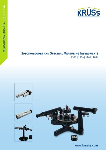 Spectroscopes and Spectral Measuring Instruments