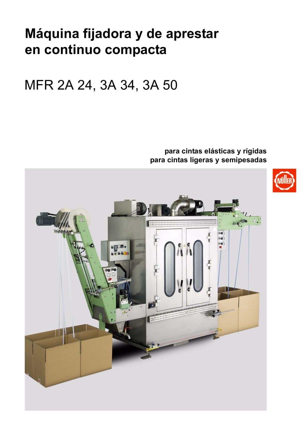 MFR...A – Máquina compacta de fijación y de apresto a la continua ...