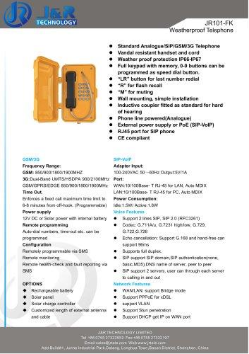 teléfono industrial JR101-FK