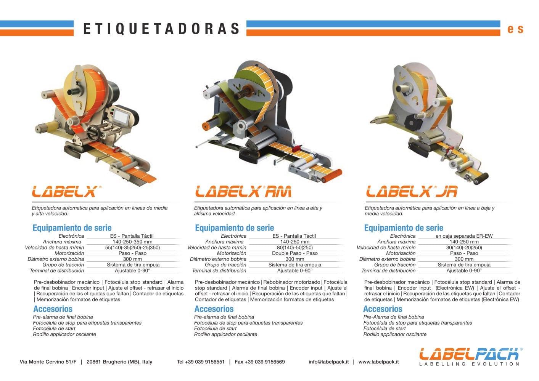 ETIQUETADORAS - Labelpack - Catálogo PDF   Documentación técnica ...