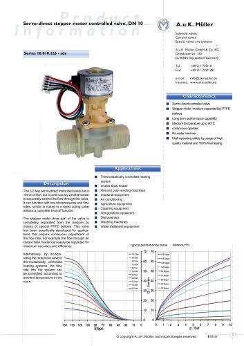 Servo-direct stepper motor controlled valve, DN 10