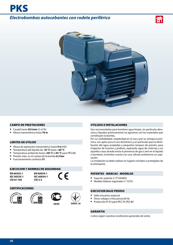 PKS - Pedrollo - Catálogo PDF  b80b5ea29eb