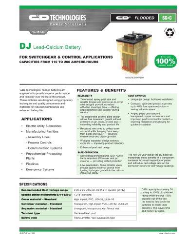 DJ Lead-Calcium Batteries