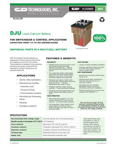 DJU Lead-Calcium Battery