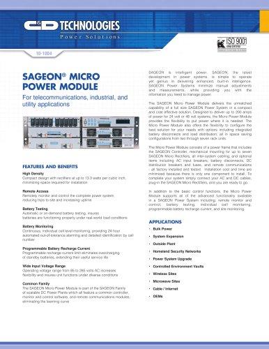 Sageon Micro™ Power Module