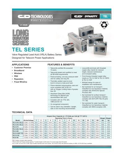 TEL Series/C&D TRUE Front Access®