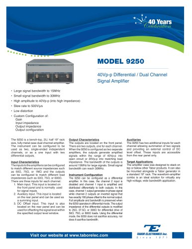 Model 9250  30MHz Differential / Dual-Channel Signal Amplifier