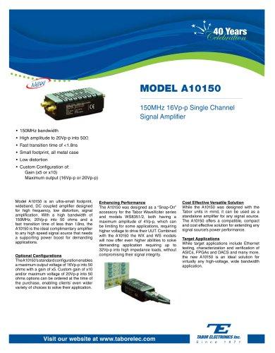 Model A10150  150MHz 16Vp-p Single Channel Signal Amplifier