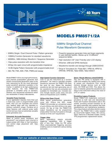 Model PM8571/2A Pulse Generator Arbitrary Waveform Generator