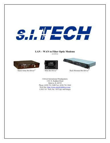 Arcnet, Ethernet, Optical Repeaters, T1/E1, & T3/E3 Modems