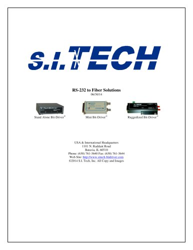 RS-232 to Fiber Solutions
