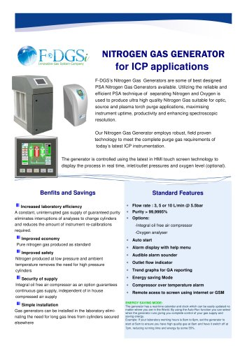 Nitrogen generator for ICP Application