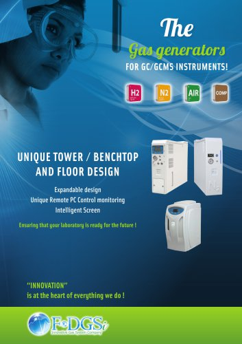 The Gas generators FOR GC/GCMS INSTRUMENTS!