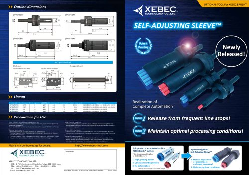 XEBEC Self Adjusting Sleeve™