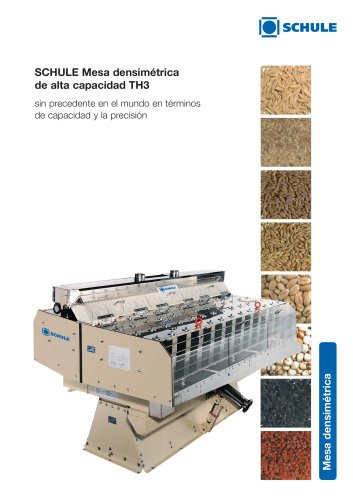Máquinas clasificadoras - Mesa densimétrica de alta capacidad TH3