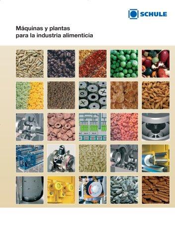 Máquinas y plantas para la industria alimenticia (Cereales, Legumbres, Té / infusiones, Concentración de proteínas, Especias, Semillas oleaginosas)