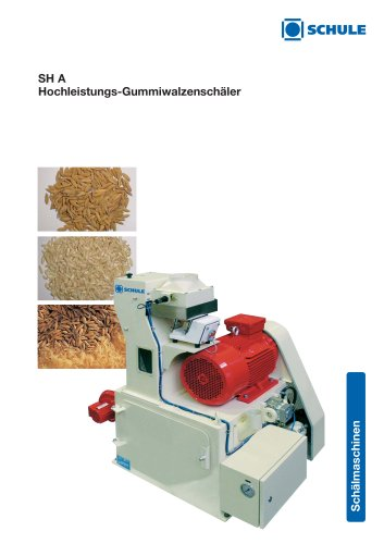 Shelling Machines: High-Capacity Rubber Roll Sheller SH A