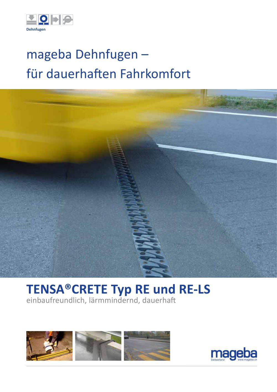 prospekt tensa-crete dehnfuge typ re - mageba - catálogo pdf